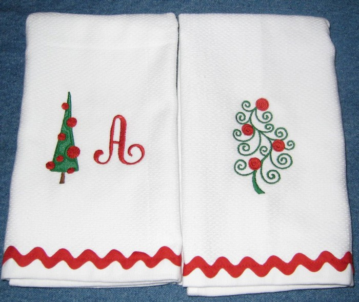 Christmas Tree Hostess Towel 8