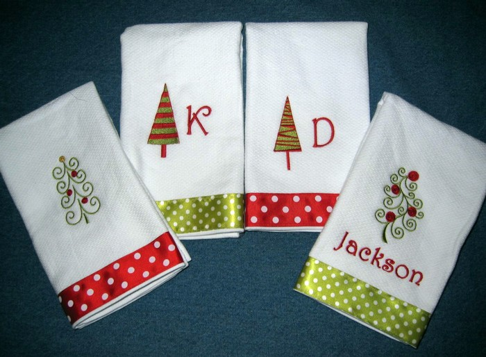 Christmas Tree Hostess Towel 9