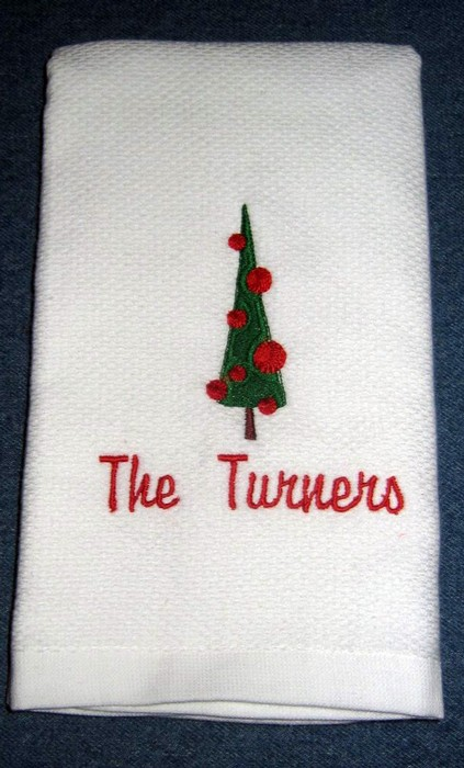 Christmas Tree Hostess Towel 10