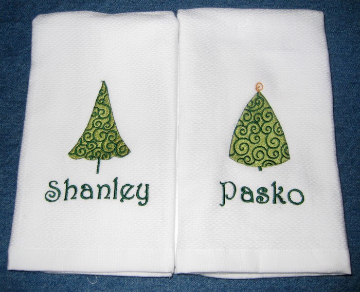 Christmas Tree Hostess Towel 12