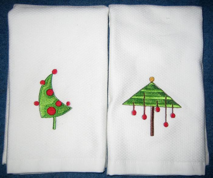 Christmas Tree Hostess Towel 13