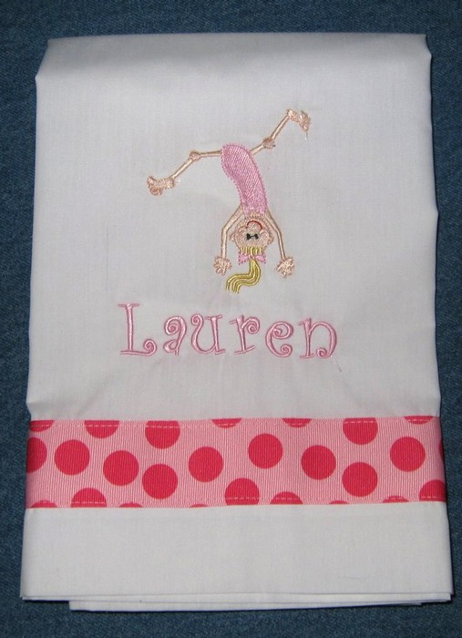 Pink Gymnastics Pillowcase