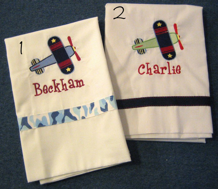 Toy Airplane Pillowcase 2