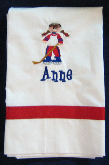 Hockey Girl Pillowcase