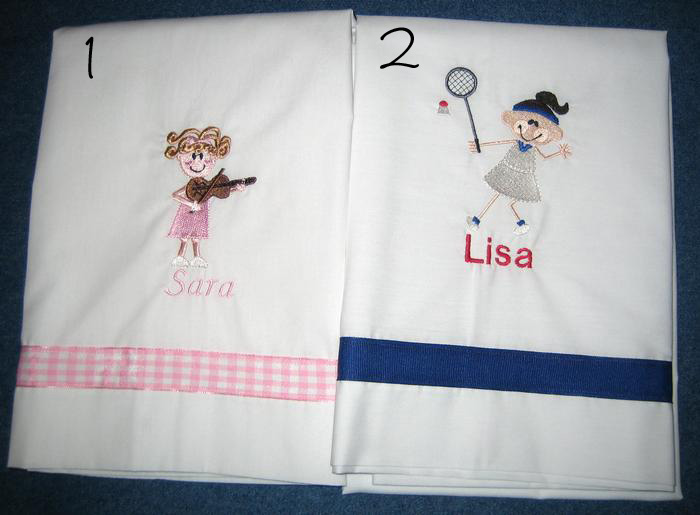 Violin & Tennis Pillowcase