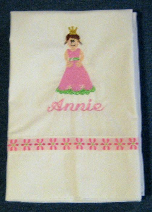 Pink & Green Princess Pillowcase