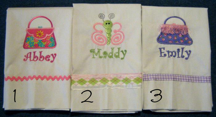 Pretty Purses & Butterfly Pillowcase