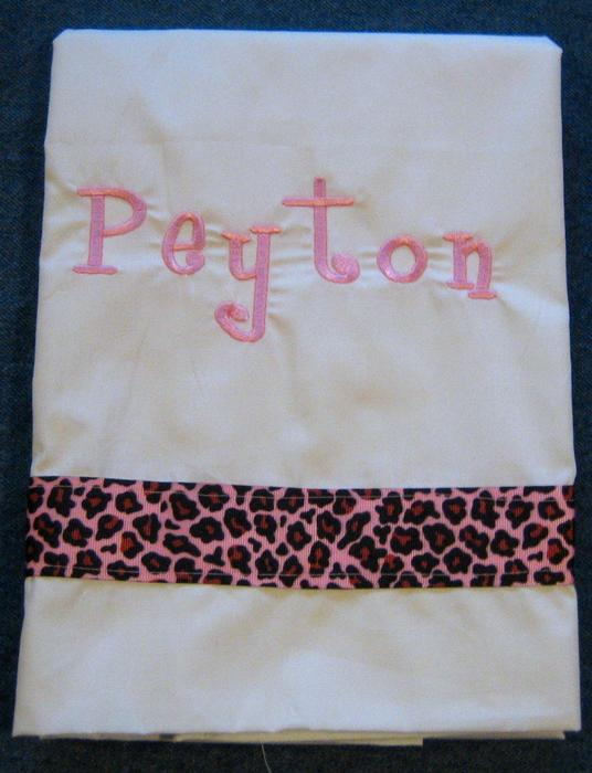 Pink Leopard Pillowcase