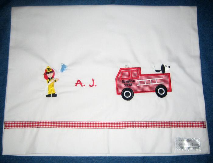 Firetruck Pillowcase