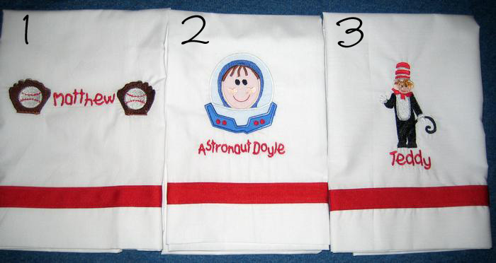 Baseball, Astronaut & Cat in the Hat Pillowcase