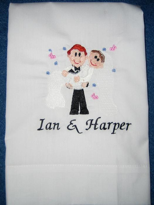 Bride & Groom Wedding Pillowcase