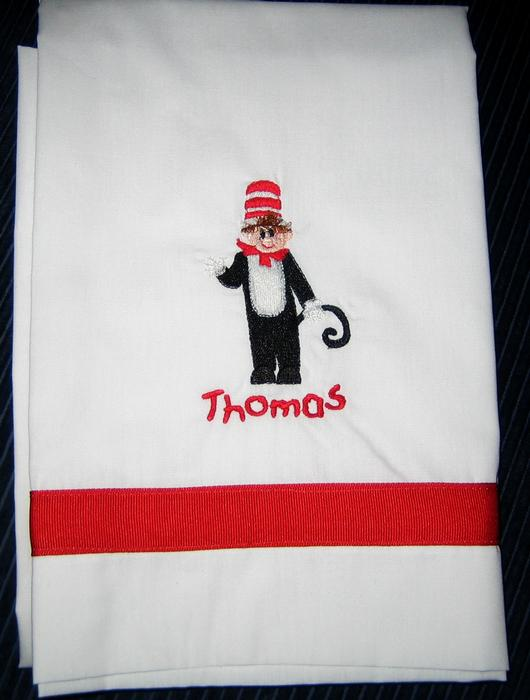 Cat in the Hat Pillowcase