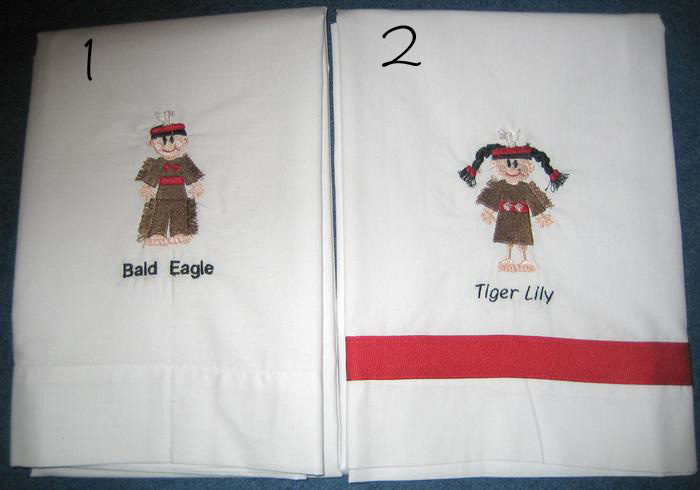Indian Guide & Indian Princess Pillowcase