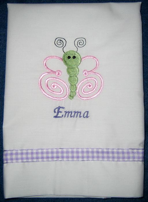 Pink & Purple Butterfly Pillowcase