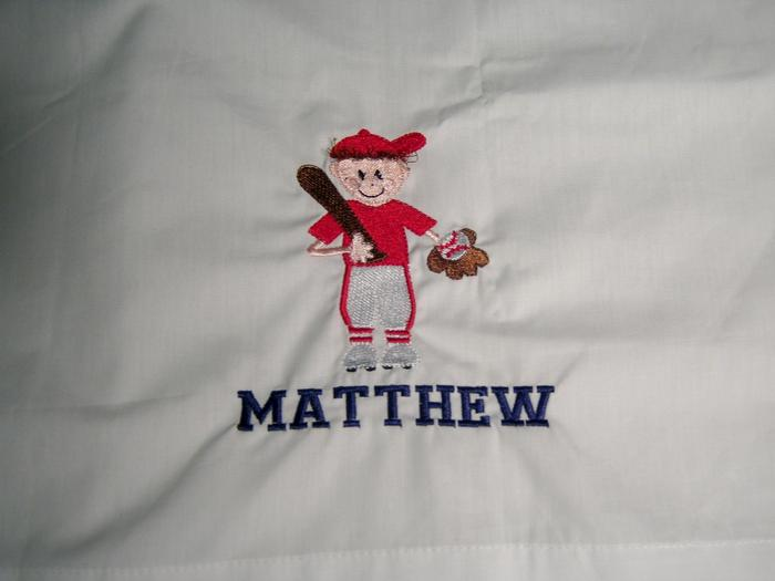 Baseball Boy (Red) Pillowcase