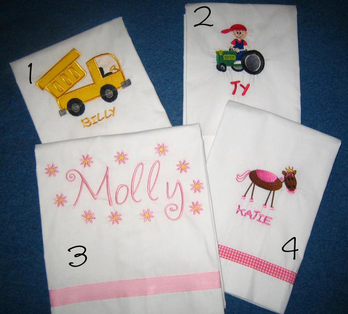 Truck, Tractor, Monogram & Pony Pillowcase