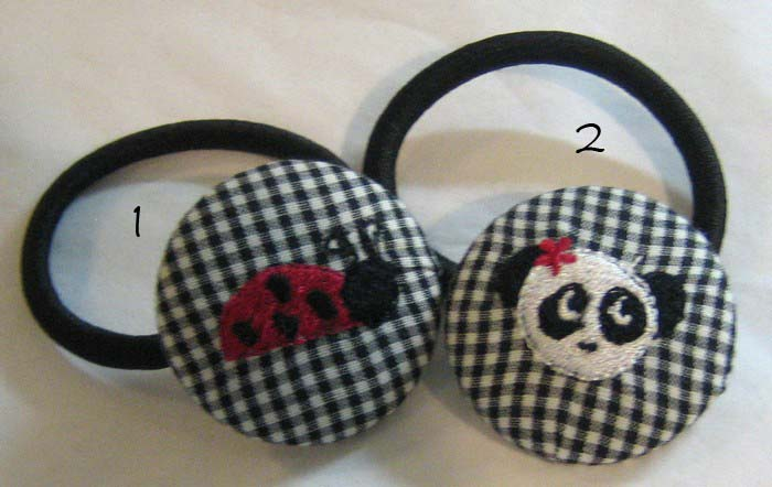 Ladybug & Panda Bear Pony Tail Holders