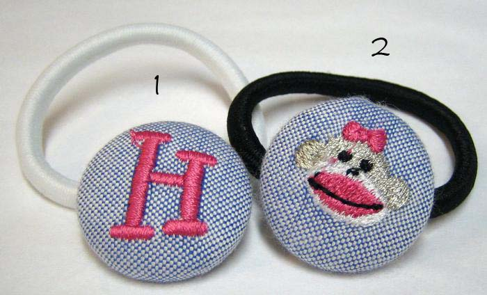Sock Monkey Pony Tail Holder