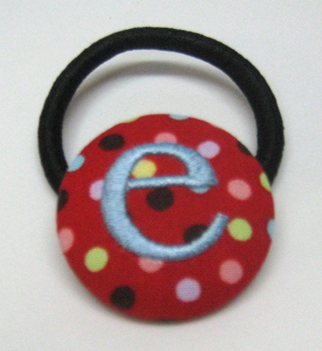 Red with Dots Pony Tail Holder