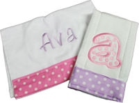 Pink and Purple Dots Bib