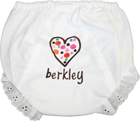 Rainbow Brown Heart Bloomers
