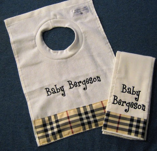 Burberry Plaid Bib