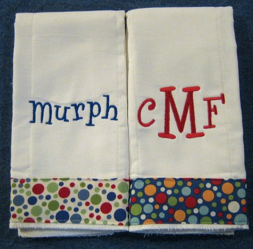 Primary Polka Dots Burp Cloth
