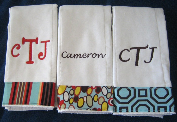 Modern Boy Trio Burp Cloth