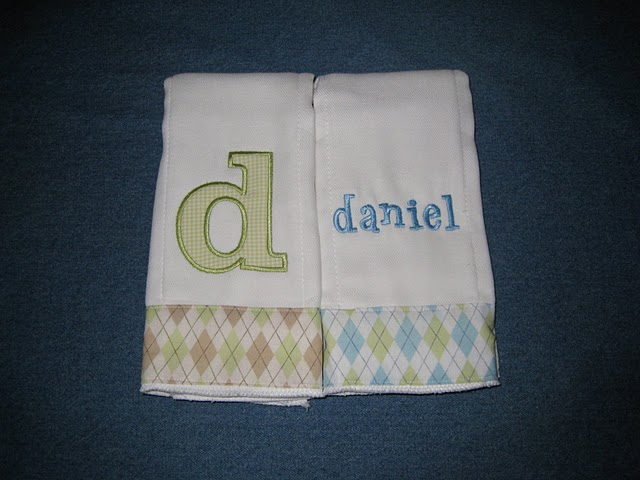 Spring Pastel Argyle Burp Cloth