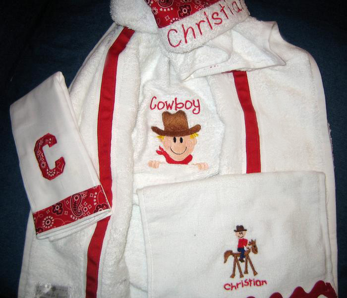Little Cowboy Hooded Towel
