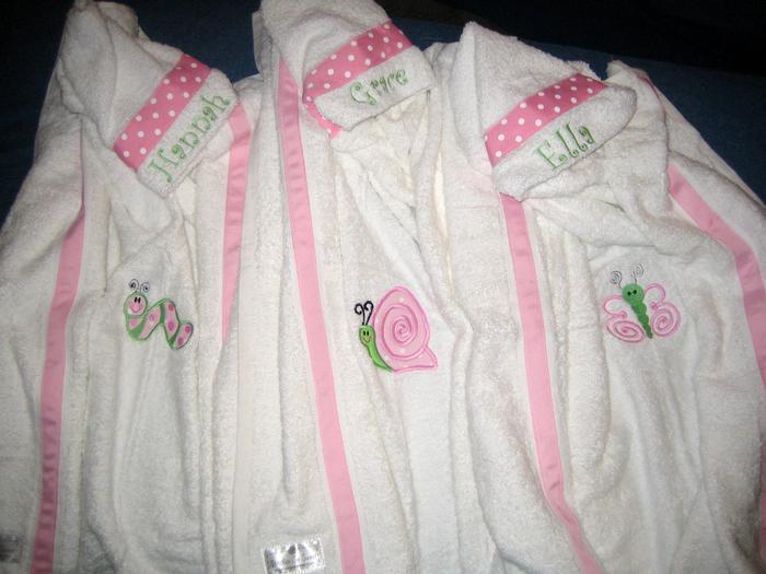 Pink Polka Dot Caterpillar, Snail & Butterfly Hooded Towel