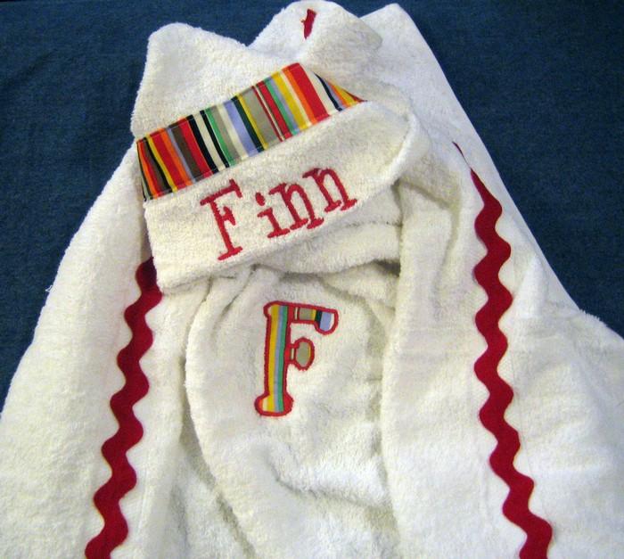 Bold Bright Stripe Hooded Towel
