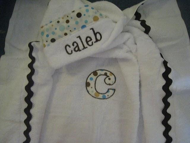 Neutral Polka Dot Hooded Towel