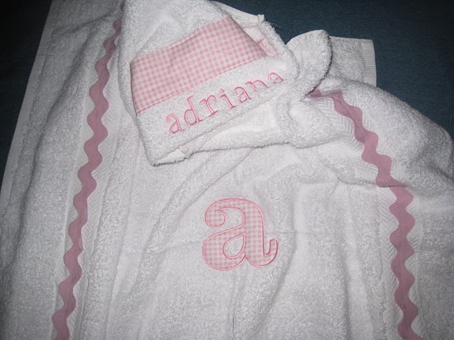 Baby Pink Gingham Hooded Towel