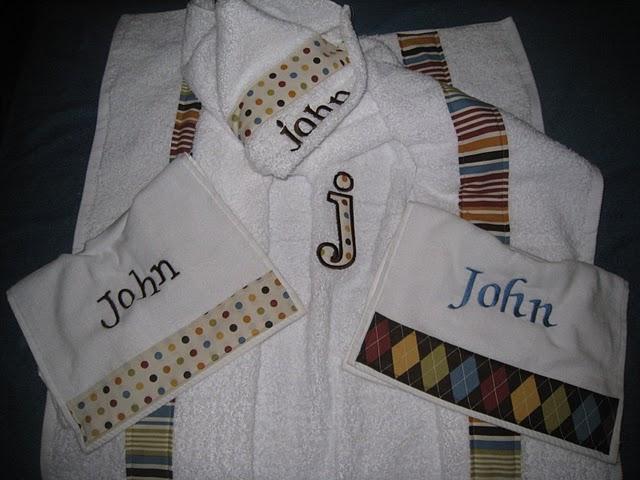 Neutral Argyle, Polka Dots & Stripes Hooded Towel