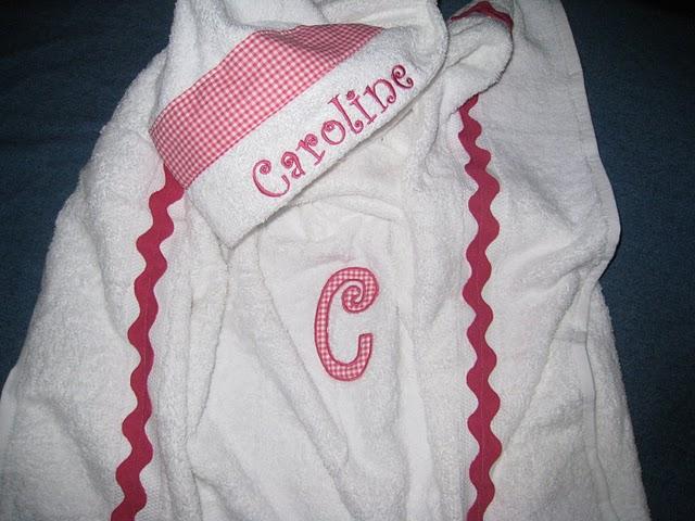 Hot Pink Gingham Hooded Towel