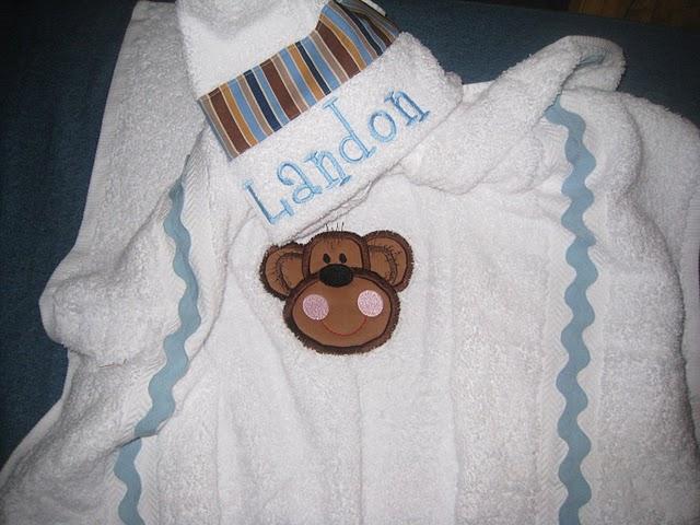 Cheeky Monkey Hooded Towel