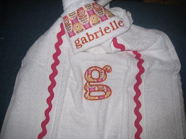 Hot Pink Folk Flowers Hooded Towel