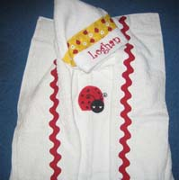 Red Ladybug Hooded Towel