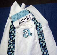 Funky Blue Polka Dot Hooded Towel