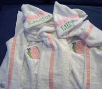 Sweet Polka Dot Snails Hooded Towel