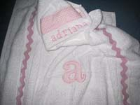 Baby Pink Gingham Hooded Towel