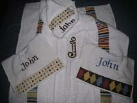 Neutral Argyle, Polka Dots & Stripes Hooded Towel